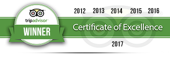 Our Tripadvisor Certificates of Excellence